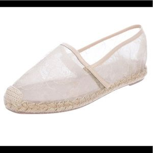VALENTINO Ivory Lace Espadrilles w/Rubber Soles